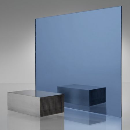 3mm Plaskolite Blue 1000 Mirror Acrylic Sheet
