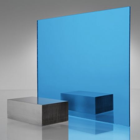 3mm Plaskolite Blue 2069 Mirror Acrylic Sheet Mirror