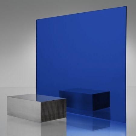 3mm Plaskolite Blue 2424 Mirror Acrylic Sheet Mirror