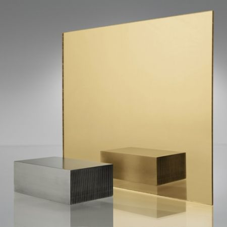 3mm Plaskolite Gold 1300 Mirror Acrylic Sheet Mirror