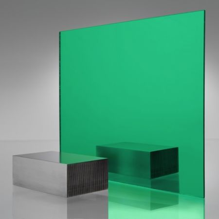 3mm Plaskolite Green 2414 Mirror Acrylic Sheet