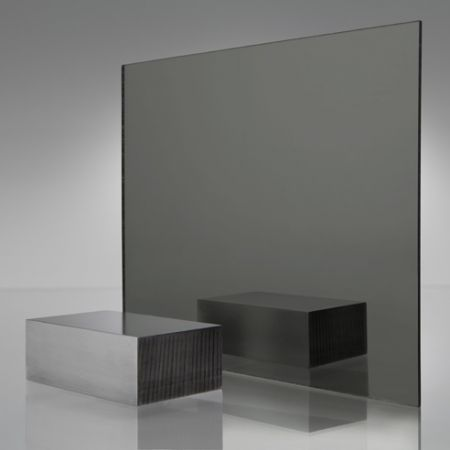 3mm Plaskolite Grey Smoke 2064 Mirror Acrylic Sheet