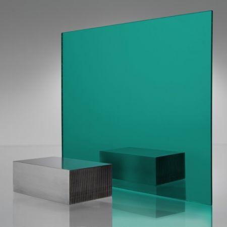 3mm Plaskolite Teal 2120 Mirror Acrylic Sheet Mirror